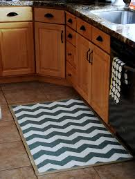 Light Blue Kitchen Rugs Kitchen Beautiful Kitchen Decoration Using Light Blue Zigzag