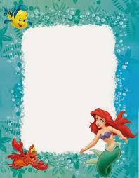 little mermaid birthday invitations cloveranddot com