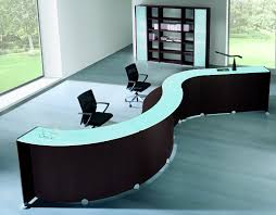 Reception Desk Glass Chairs Home Design Salon Reception Desk Display Fence