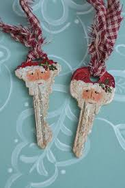 4 curly fork santa claus painted ornament by santaheaven