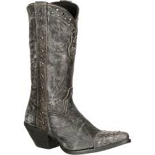 western biker boots crush by durango women u0027s gray punk studded western boots