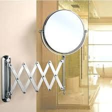 extending bathroom mirrors bathroom mirror extendable arm empire wall mount round swivel