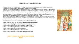 house in the big woods audiobook free mp3