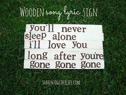 thanksgiving day song lyrics create a wooden song lyric sign at shaken together