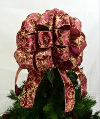 tree bows tree topper bows burgundy gold bow pink