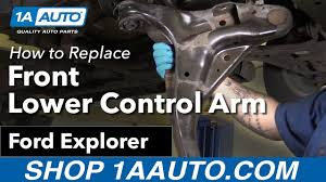 ford explorer front end parts how to replace install front lower arm 06 10 ford explorer