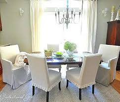 White Slipcover Dining Chair White Dining Chair Slipcovers White Slipcovers Dining Room Chairs