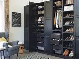 Black Bedroom Furniture Ikea Bedroom Ikea Black Wardrobe With Mirror Hanging Closet Shelves