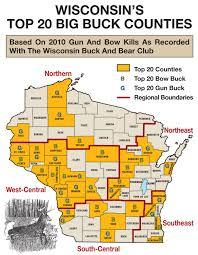 Wisconsin County Maps by A Western Wisconsin Trophy Bow Buck