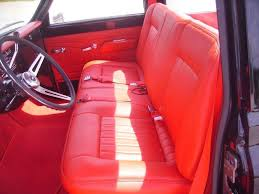 diamond pattern glove leather bench seat with a matching bead