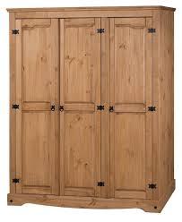 Solid Pine Bedroom Furniture Wardrobe 3 Door Solid Pine Bedroom Furniture Antique Wax Finish