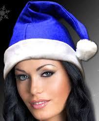 blue santa hat blue felt santa hats