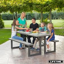 lifetime picnic table costco lifetime 6ft 1 82m rough cut picnic table costco uk