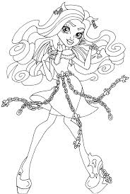 free printable monster high coloring pages rochelle goyle haunted