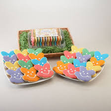 easter bunny cookies in gift baskets