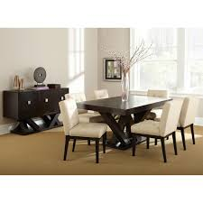 steve silver tiffany dining chairs espresso beige set of 2