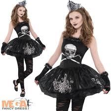 zombie ballerina ages 8 16 girls halloween fancy dress kids teen