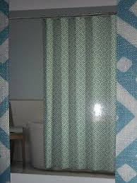 comfort bay textured shower curtain soft fabric blue and ivory 70