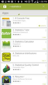 r statistical package for android a personal experience of