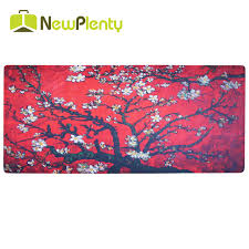 desk size mouse pad large size mouse pad red flower extended waterproof anti slip