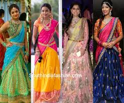 engagement sarees for engagement half sarees