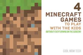 4 minecraft game ideas for the kids no screen required