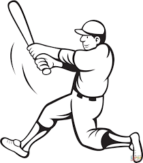 coloring pages decorative free printable baseball coloring pages