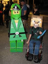 2 Halloween Costumes Boy Coolest Homemade Green Ninjago Halloween Costume Boy