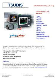 produktliste lcd tft ersatzmonitore tsubis pdf katalog