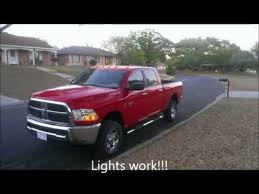 dodge ram clearance lights leaking how to install cab lights clearance lights youtube