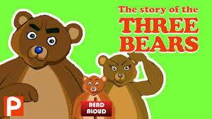 read aloud story of the three bears short story book video