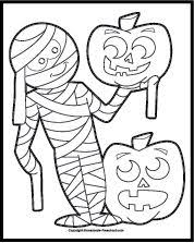 mummy coloring pages halloween halloween coloring pages