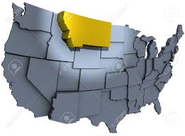 State Map Of United States by Spotlight On Gold Montana Treasure State In Map Of United States