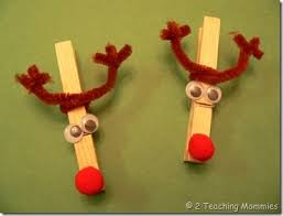 reindeer clothespin craft clothespin pipe cleaners wiggly