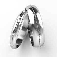 18ct white gold wedding ring diamond set his and hers wedding rings 18ct white gold patterned