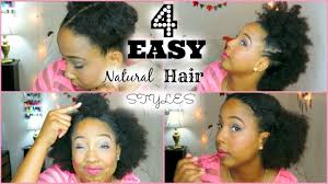 Quick Easy Hairstyles For Girls four easy quick hairstyles for short medium natural hair youtube