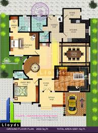 House Plans To Take Advantage Of View 2951 Sq Ft 4 Bedroom Bungalow Floor Plan And 3d View Kerala G
