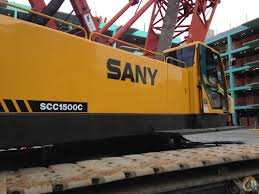 2008 sany scc1500c lattice boom crawler crane cb u0026j 860 crane for
