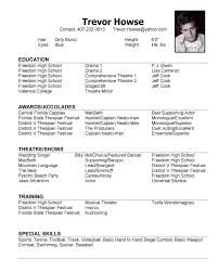 Resume For Theatre Talent Resume Template 28 Images 10 Acting Resume Templates