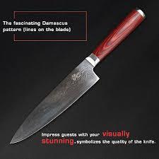 damascus kitchen knives haoye 2 piece damascus kitchen knife sets japanese vg10 blade