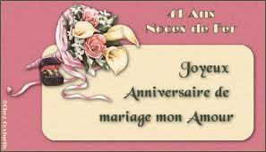 41 ans de mariage menu anniversaires mariage