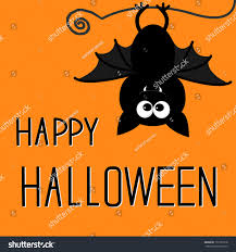 cute bat happy halloween card vector stock vector 151303718