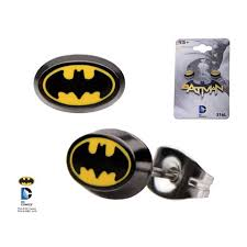 batman earrings hottopic dc comics batman logo earrings