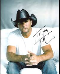 Cj S World The Autographs Tim Mcgraw Country Music Actor