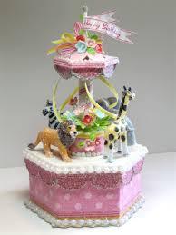 carousel cake topper pink circus carousel cake topper keepsake box centerpiece