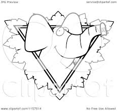 cartoon clipart of a black and white elephant face over a safari