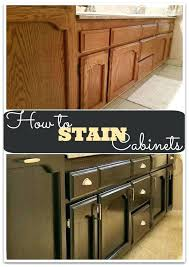 refinishing kitchen cabinets with gel stain cabinet staining step