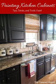 Diy Black Kitchen Cabinets Painting Cabinets Black Appealing Painting Kitchen Cabinets Black