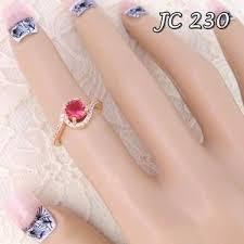 cincin lapis emas jual cincin lapis emas 18k permata merah jc 230 lestari grosir