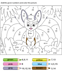 coloring pages color addition worksheet 2 addition coloring